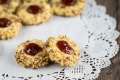 Cookies with jam Stock Image