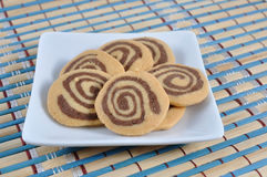 Cookies on Japanese mat pattern and texture Stock Image