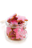 Cookies in jar Stock Photos