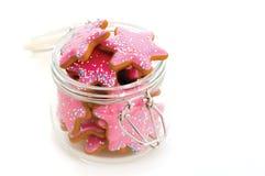 Cookies in jar Royalty Free Stock Photos