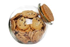 Cookies in a jar with cork lid Royalty Free Stock Image