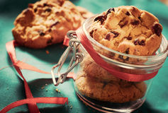 Cookies in the jar stock image