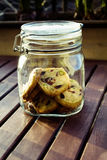 Cookies in jar Stock Photo