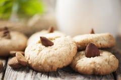 Cookies with a Jar of milk Stock Photos