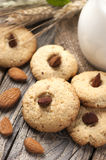 Cookies with a Jar of milk Royalty Free Stock Images