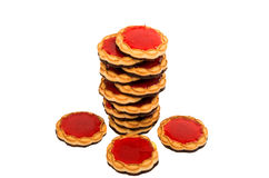 Cookies with jelly Stock Photos
