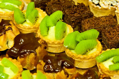 Cookies with kiwi and chocolate Stock Photography