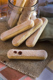 Cookies Ladyfingers, Savoiardi, sponge cakes Royalty Free Stock Image