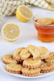 Cookies with lemon curd Stock Photos