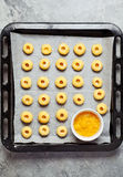 Cookies with lemon and lemon curd Stock Images