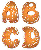 Cookies letter ABCD Royalty Free Stock Photography