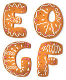 Cookies letter EOGF Royalty Free Stock Photo