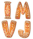 Cookies letter IMVJ Stock Photo