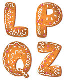Cookies letter QLPZ Stock Images