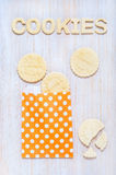 Cookies and letters of shortcrust pastry on the table Royalty Free Stock Photo