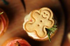 Cookies little man cupcake. Stock Photo