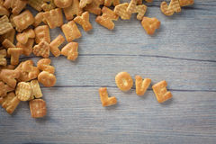 Cookies LOVE Royalty Free Stock Photography