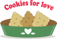 Cookies for love Royalty Free Stock Photos