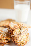 Cookies made ��from cereal and milk Royalty Free Stock Photography