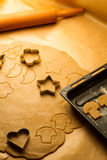 Cookies made from gingerbread royalty free stock images