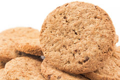 Cookies made of whole wheat with dark chocolate Royalty Free Stock Photo
