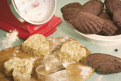 Cookies and madeleines retro look Royalty Free Stock Image