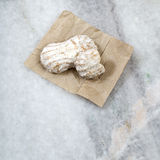 Cookies on marble table Royalty Free Stock Photo