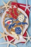Cookies marinhas Imagens de Stock