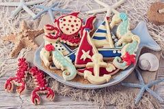 Cookies marinhas Fotos de Stock