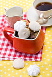 Cookies and meringue Royalty Free Stock Image