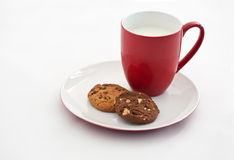 Cookies with milk Stock Photography