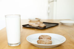 Cookies And Milk Stock Photos