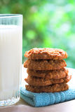 Cookies and Milk Stock Images