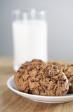 Cookies & Milk stock photos