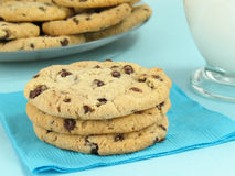 Cookies with Milk Stock Photos