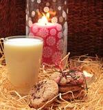 Cookies With Milk Stock Image