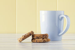 Cookies and milk breakfast Royalty Free Stock Photography