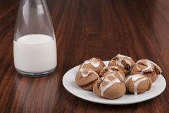 Cookies and Milk Royalty Free Stock Photos