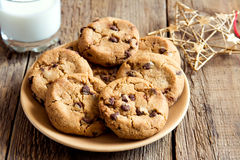 Cookies with milk and christmas star Stock Photography