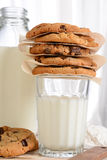 Cookies and Milk Closeup Royalty Free Stock Photo