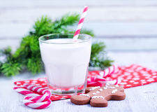 Cookies with milk Royalty Free Stock Photography