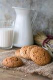 Cookies and milk Stock Photos