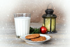 Cookies and milk for Santa Stock Image