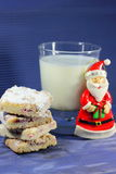 Cookies and milk for Santa Claus Stock Images