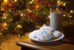 Cookies and milk for Santa Royalty Free Stock Photo