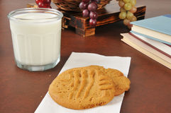 Cookies and milk after school Stock Photos