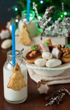 Cookies and milk. royalty free stock image