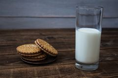 A cookies and milk royalty free stock image