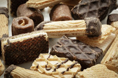 Cookies mix group on white background Royalty Free Stock Photos