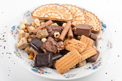 Cookies Mix On The Plate Royalty Free Stock Image